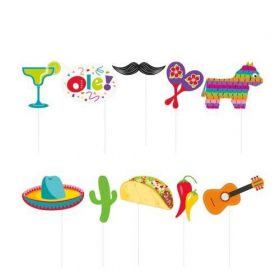 Mexican Fiesta Photo Props, pk10