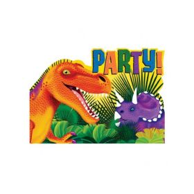 Dinosaur (Prehistoric) Party Invitations, pk8