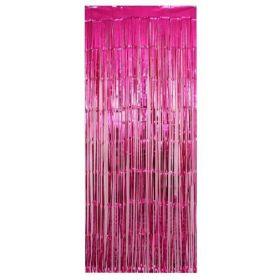 Fuchsia Foil Curtain