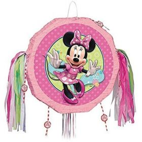 Dinsey Minnie Mouse Pull String Party Pinata 17""