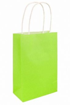 Neon Green Paper Party Bag