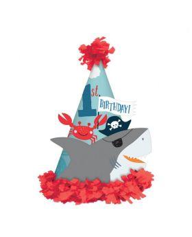 Ahoy 1st Birthday Hat