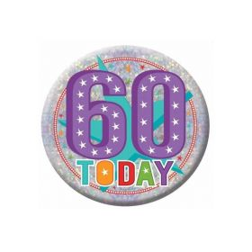 60 Today Holographic Badge