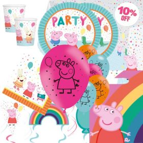 Peppa Pig Rainbow Deluxe Party Pack