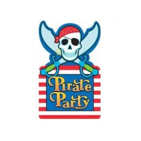 Pirate Party Invitations, pk8