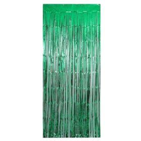 Metallic Green Door Curtain