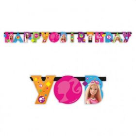 Barbie Sparkle Happy Birthday Letter Banner