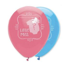 Bow or Bowtie Gender Reveal Helium Quality Balloons pk6