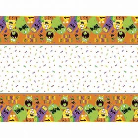 Silly Halloween Monsters Plastic Tablecover 1.37m x 2.13m