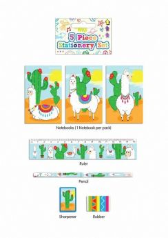 Lllama Stationery Set