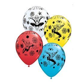 "Spiderman Helium Quality Latex Balloons 11"", pk25"