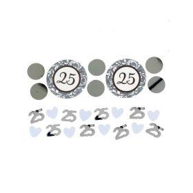 25th Anniversary Silver Confetti