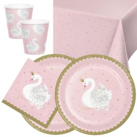 Swan Party Tableware Pack for 16