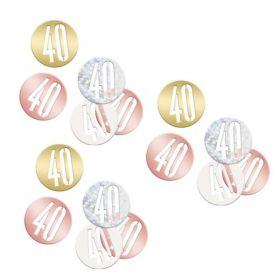 Glitz Rose Gold Age 40 Confetti 14g