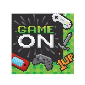 Gaming Party Napkins 33cm x 33cm, pk16