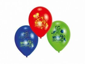 Mickey Mouse ClubHouse 4th Happy Birthday Printed Balloons, pk6