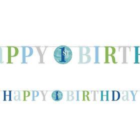 1st Birthday Letter Banner