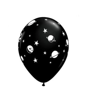"""Space Astronaut Party Latex Balloons 11"""", pk6"""