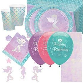 Mermaid Shine Deluxe Party Pack for 16