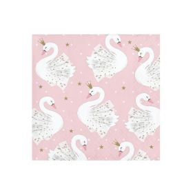 Swan Party Beverage Napkins 25cm x 25cm, pk16