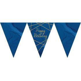 Navy & Gold Geode Party Happy Birthday Flag Banner 3m