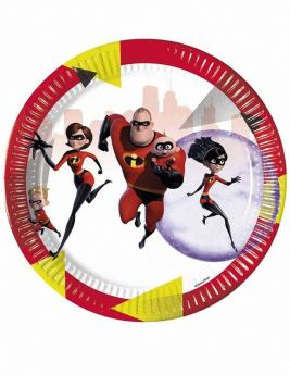 The Incredibles 2 Party Paper Plates, pk8