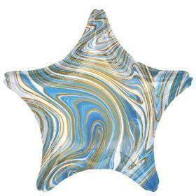 """Marblez Blue Star Standard Foil Balloon 19"""""""