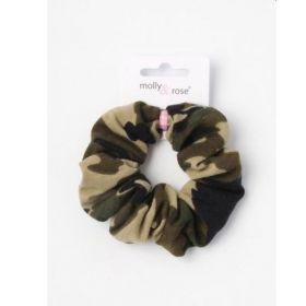 Camouflage Fabric Scrunchie
