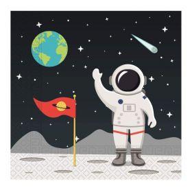 Space Astronaut Party Napkins 33cm x 33cm, pk20