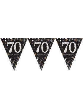 Gold Sparkling Celebration 70th Prismatic Banner 4m