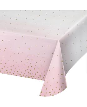 Pink and Gold Baby Shower Party Tablecover 1.37m x 2.59m
