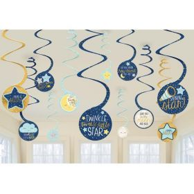 Twinkle Little Star Swirl Decoration, pk12
