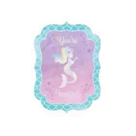 Mermaid Shine Invitations, pk8