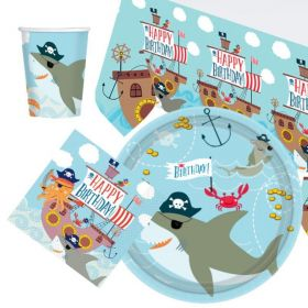 Ahoy Birthday Tableware Party Pack for 8