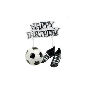 Football, Boots & Happy Birthday Cake Topper Kit