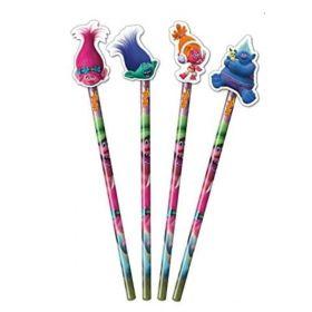 Trolls Pencils with Eraser Top