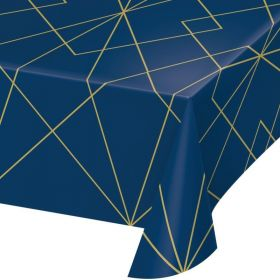 Navy & Gold Geode Party Tablecover 1.37m x 2.6m