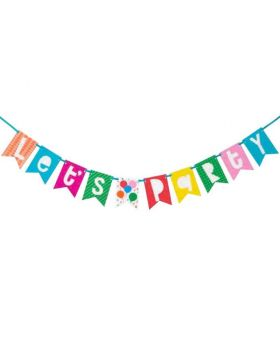 Colourful Balloons Party Banner 1.8m