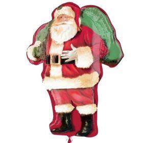 """Christmas Santa SuperShape Foil Balloon 34"""""""
