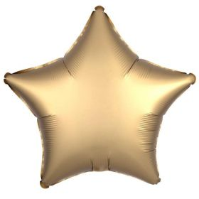 Gold Sateen Star Foil Balloon 18""