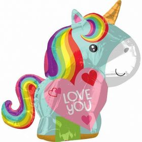 Unicorn Love Junior Shape Foil Balloon 17''