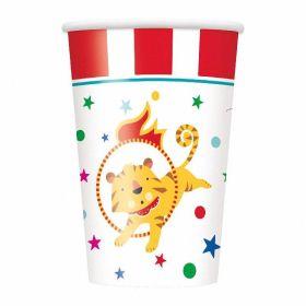 8 Circus Carnival 9oz Cups