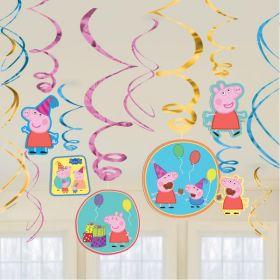 Peppa Pig Swirl Decorations, pk12