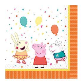 Peppa Pig Party Napkins 33cm x 33cm, pk16
