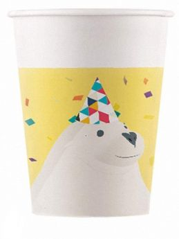 Arctic Party Paper Cups 200ml, pk8