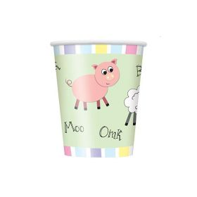 Farmyard Party Cups pk8