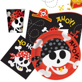 Pirate Fun Tableware Pack for 8