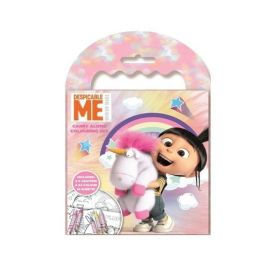 Despicable Me Fluffy Carry Along Colouring Set