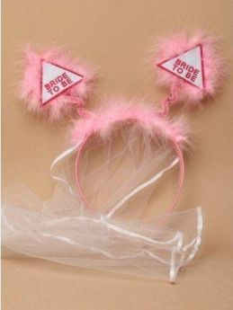 "Pastel Pink ""Bride To Be"" Hen Party Deeley Bopper Headband"