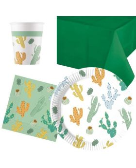 Cacti Party Tableware Pack for 8